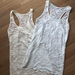 2xWilfred Lace Cami Racerback Top (Size: Medium)